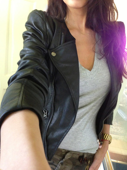 jacket leather jacket leather black perfecto blouse cool tumblr girls stud studs