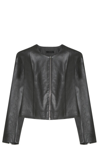 jacket leather jacket leather grey
