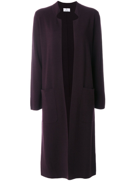 Allude coat long women wool purple pink