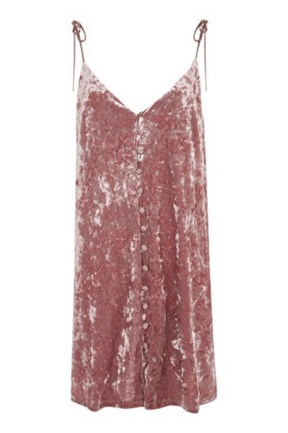 Topshop dress slip dress glitter soft pink soft pink