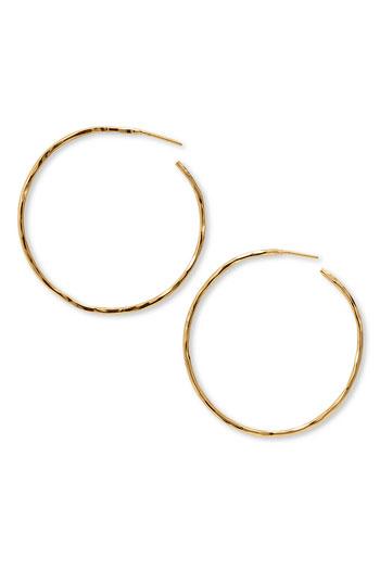Argento Vivo Hammered Large Hoop Earrings | Nordstrom