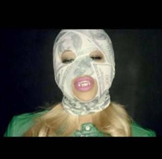 mask gold pink hat ski mask dope money money beanie money ski mask green gold grillz pink lips trina blonde hair dope shit trill trill