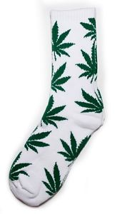 HUF Plantlife White Green Crew Socks One Size | eBay