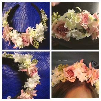 hair accessory headband flowers pink pink flowers rose pink rose pink headband accessory beautiful cute accessories flower headband fashion