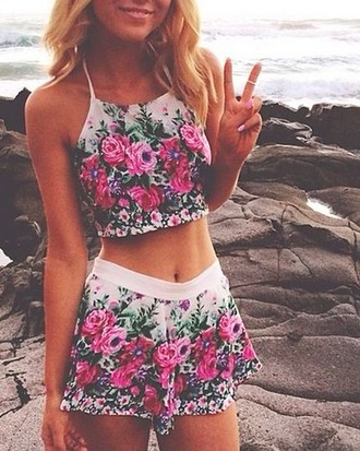 romper matching set shorts top