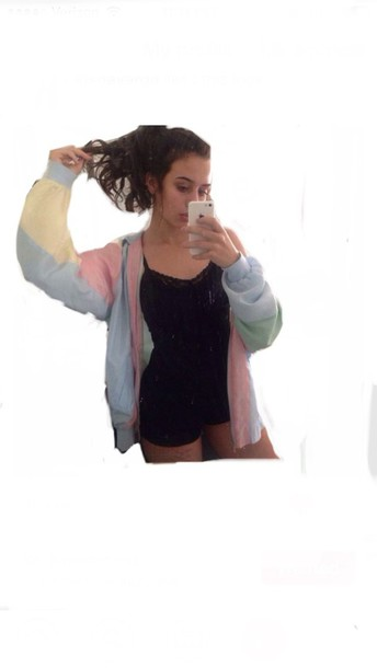 jacket pink blue yellow green