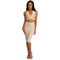 Milan two-piece dress (white/nude/black) – noodz boutique
