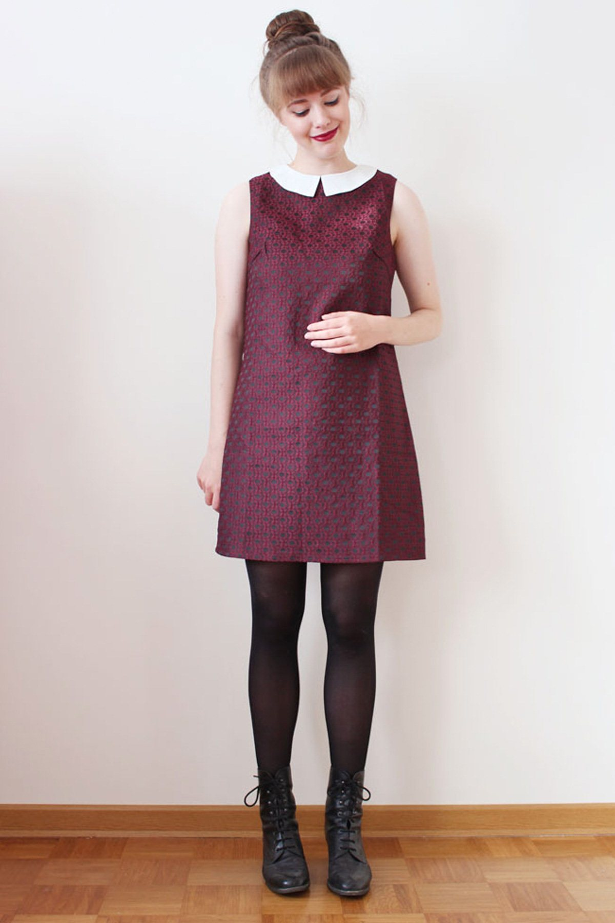 AW14 Chloe Dress - Wine - Sugarhill Boutique