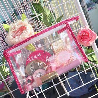 make-up yeah bunny makaeupbag bag transparent travel accessories