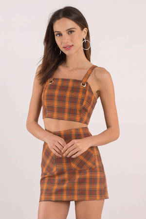 Short And Sweet Plaid Crop Top