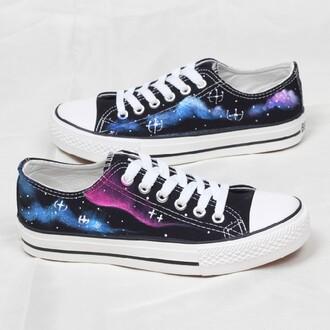 shoes galaxy print harajuku