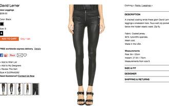 leather leggings zipper black