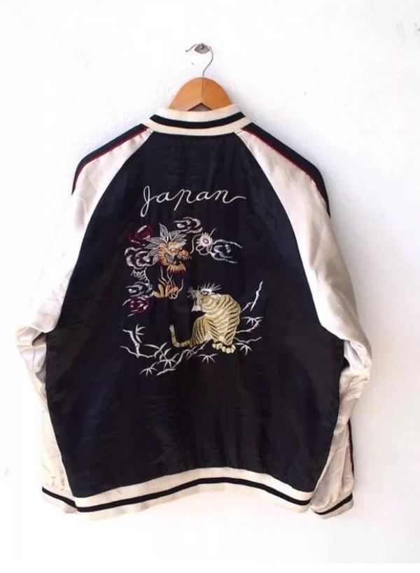 Jacket: bomber jacket, satin bomber, japan, japanese, japanese ...