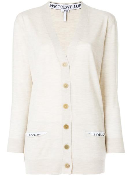LOEWE cardigan cardigan women classic nude wool sweater