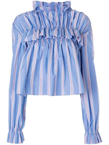 MARNI top women cotton blue