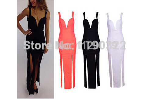 2014 new summer vintage black brand Ladies' tight evening dress slit plunge strap prom maxi dress OM154-in Apparel & Accessories on Aliexpress.com | Alibaba Group