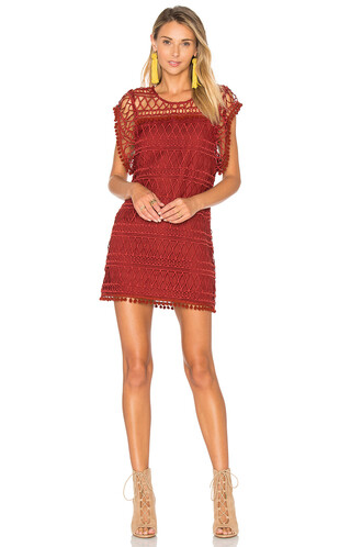 tunic lace red top