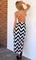 Lace stripe long dress by dealsforyou
