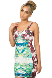 tropical,tropical dress,bandage dress,tube dress,cami,sexy dress,bright dress,colorful dress,clubwear,girly,bright,dress