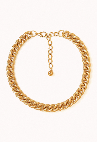 Oversized chain necklace