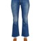 Crop flared stretch cotton denim jeans