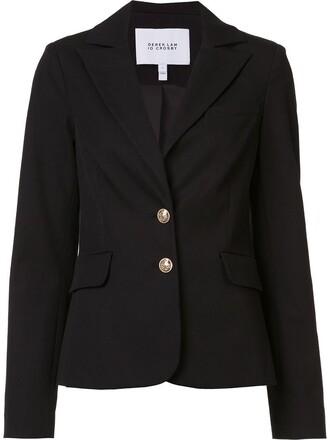 blazer women fit cotton black jacket