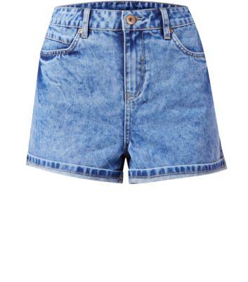 Blue mom shorts