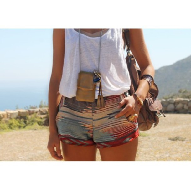 shorts printed short aztec short