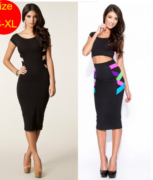 Bandage dresses Celebrity backless bodycon dresses pencil Knee Length Casual 2014 summer sexy dress women tunic club clothing | Amazing Shoes UK