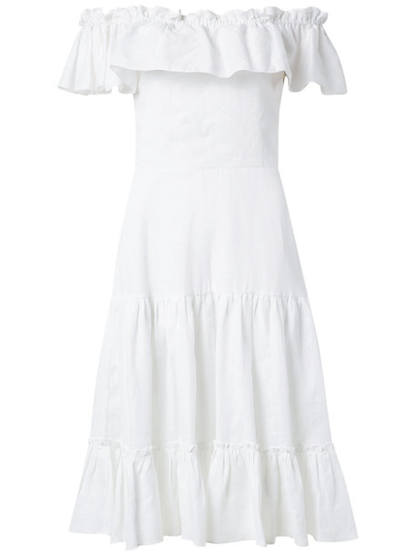 isolda dress off the shoulder women white
