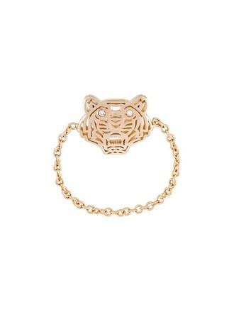 mini tiger ring metallic jewels