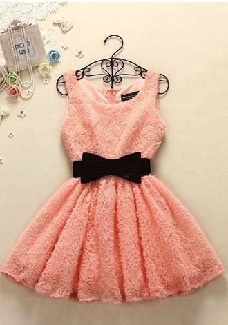 dress coral bow dress
