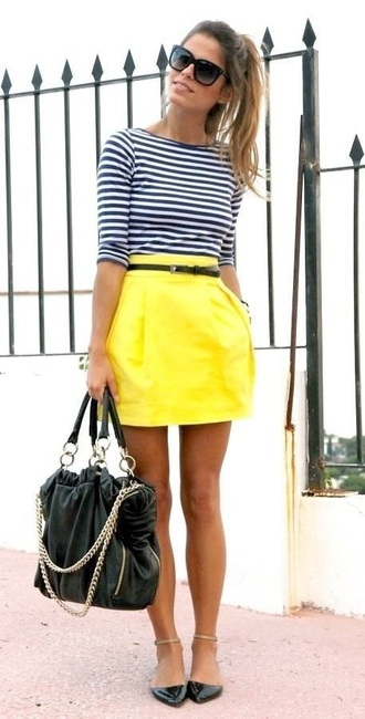 bag yellow skirt
