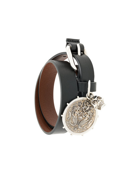 Alexander Mcqueen women leather black jewels