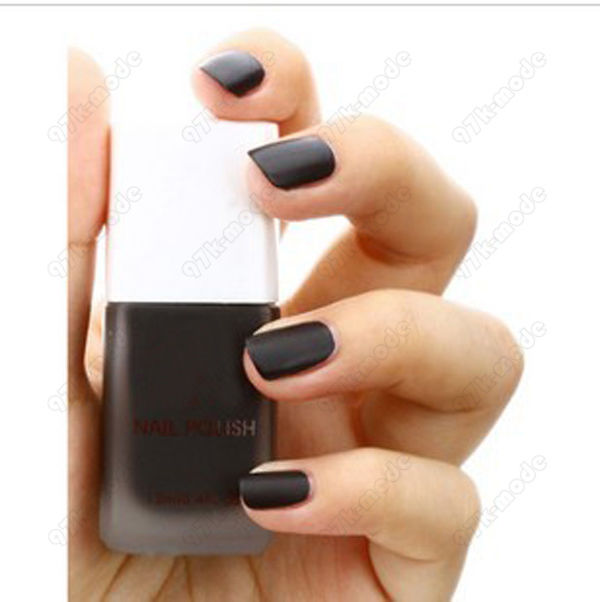 KDQ10 Matte Nail Art Polish Lacquer Dull Vivid Color Varnish Matt Black 0067 15 | eBay