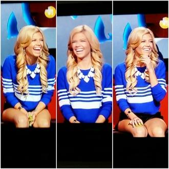 blouse blue shirt blue sweatshirt chanel west coast chanel westcoast worn on tv tv show