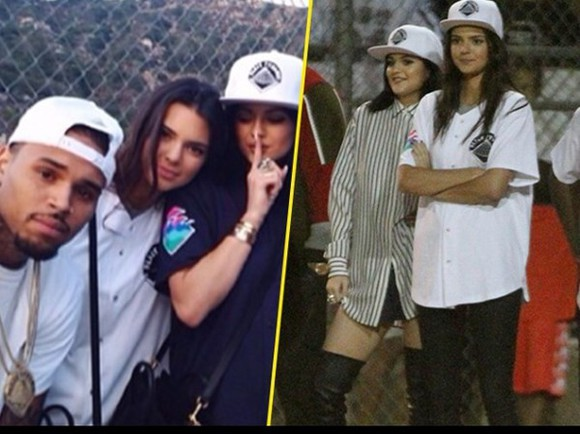 chris brown blouse kendall and kylie jenner