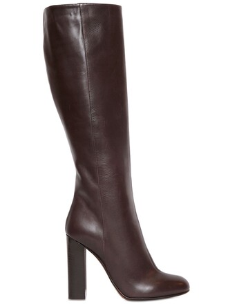 boots leather boots leather brown shoes