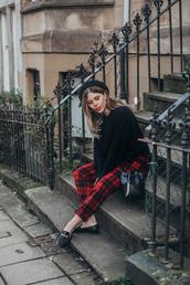 wish wish wish,blogger,hat,sweater,pants,shoes,bag
