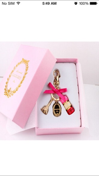 jewels pink macaroon macaron french keychain h keychain
