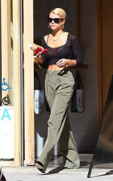 top crop tops black top sofia richie streetstyle pants fall outfits