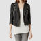 Womens alford matte leather biker jacket (matt black) | allsaints.com