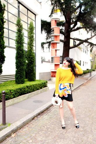 the cherry blossom girl blogger skirt sweater bag shoes make-up nail polish