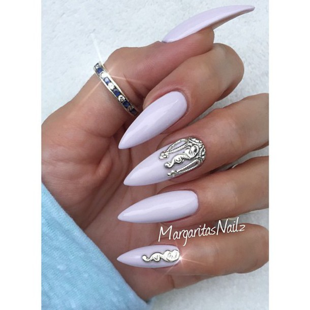 nail accessories nail art silver nail set nail fashion nail