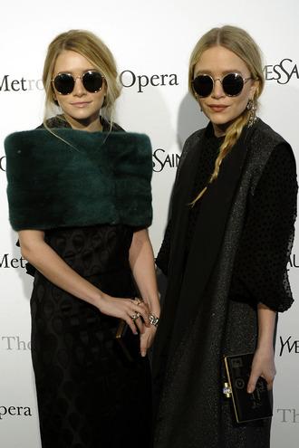 mary kate olsen sunglasses ashley olsen dress john lennon shades blonde hair style haute couture