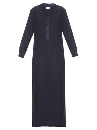 dress maxi dress maxi silk navy