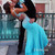 Blue A-line Backless Sequins Chiffon Prom Dresses, Evening Dresses - 24prom