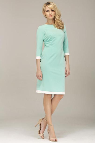 82a8d9739ceb dress, mint dress, green dress, half sleeve dress, midi dress ...