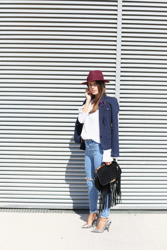jeans jewels bag blogger jacket seams for a desire