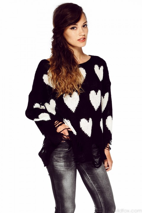 ALL OVER LOVE LENON SWEATER